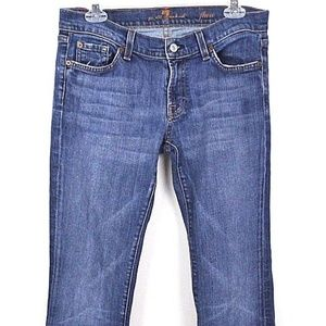 7 For All Mankind Women's Jeans Flare Medium Wash